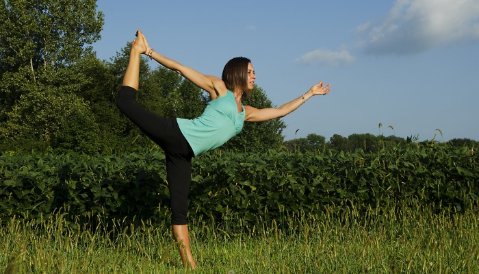 Amy Fecher doing yoga in Beavercreek, Ohio.
