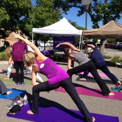 Yoga at the Farmer's Market